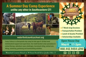camp cuheca at waterford country school summer open house invitation free food tours demos all families invited may 6