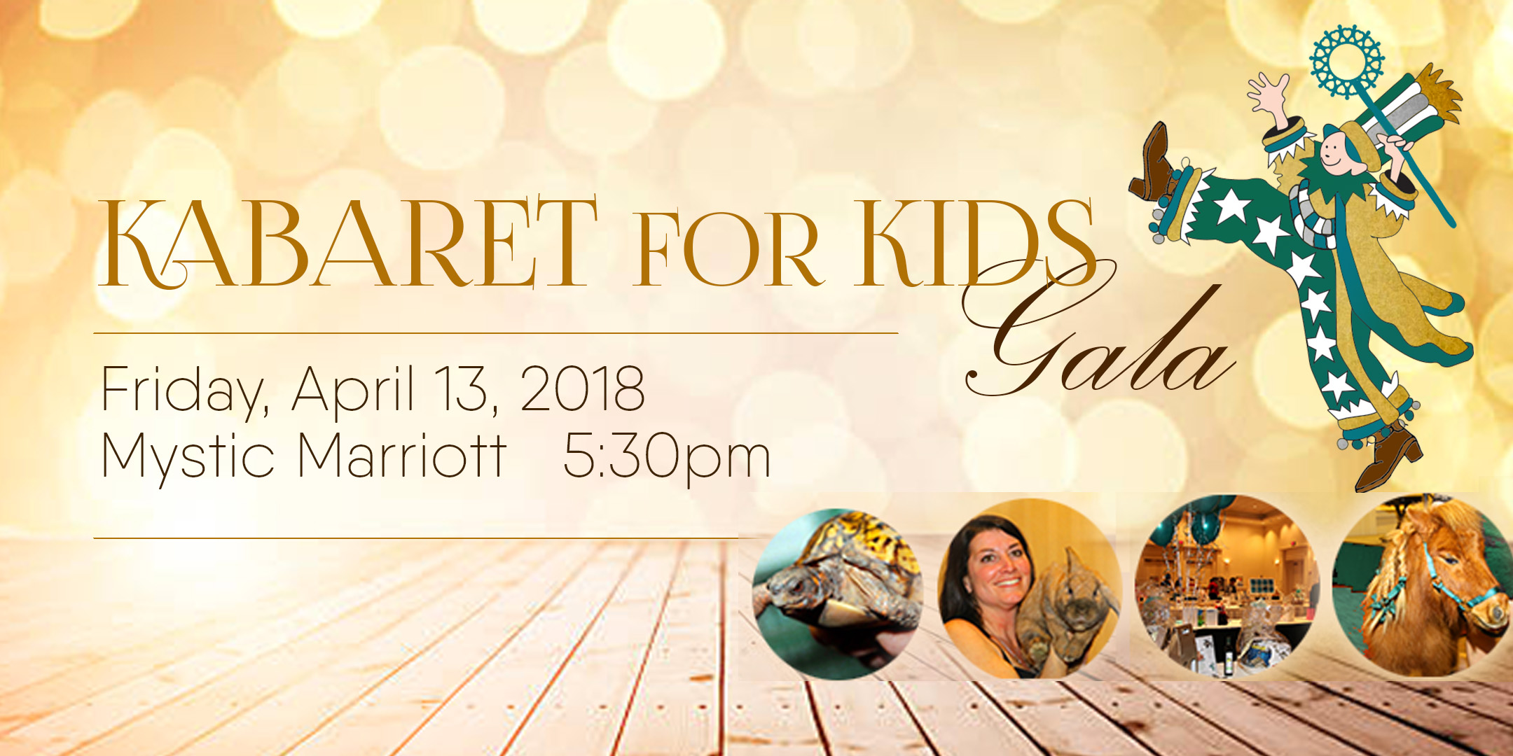 gold rustic lights barn wood and farm animals at fundraising gala evening