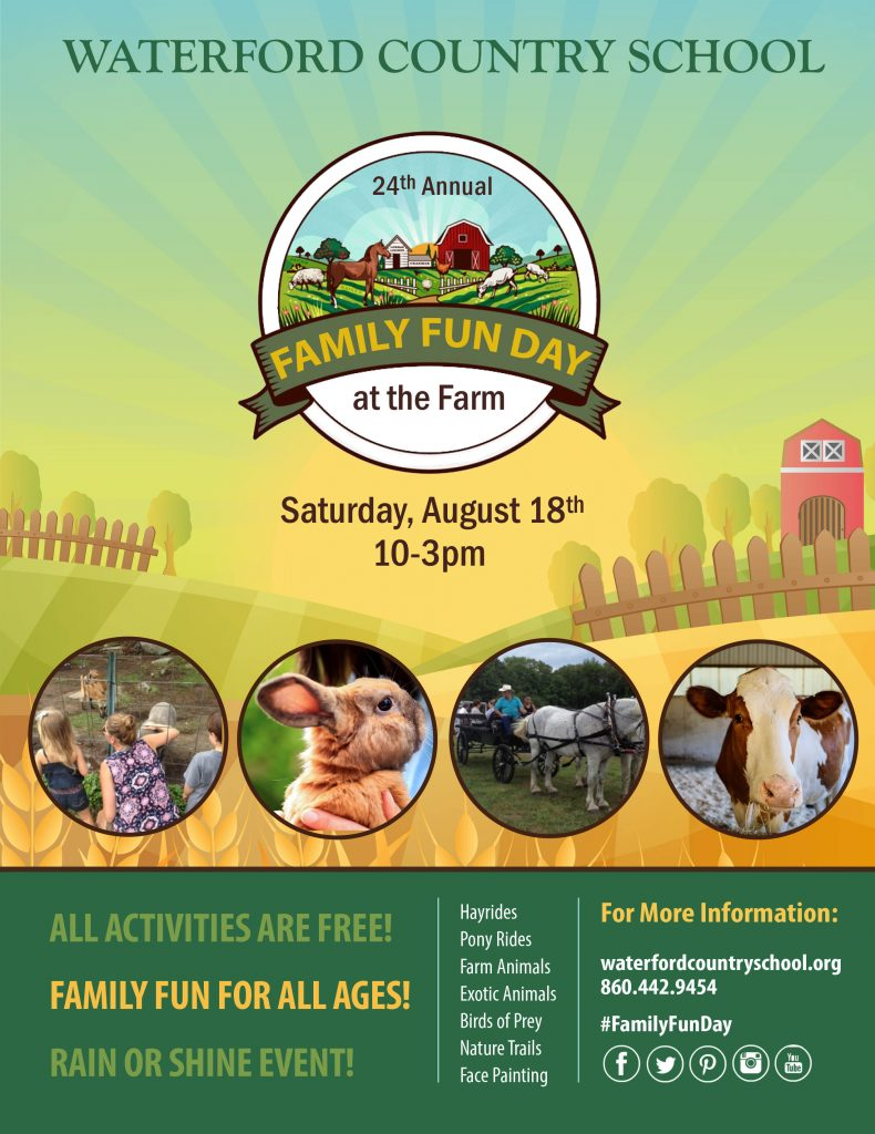 free family fun day on the farm animals rides open house in quaker hill connecticut