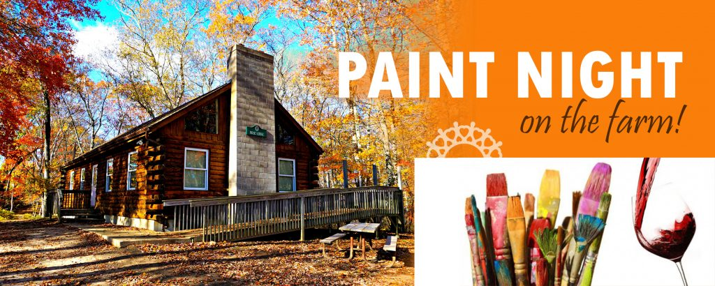 paint art creations fundraiser log cabin at waterford country school farm